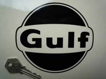 "Gulf Cut Vinyl Logo Sticker. 5""."