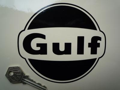 "Gulf Cut Vinyl Logo Sticker. 5""."