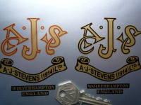 AJS A.J.Stevens Wolverhampton Vintage Scroll Sticker. 3