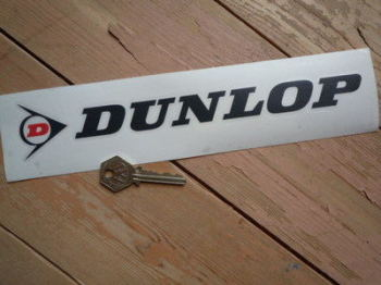 "Dunlop Cut Letters & Red 'D' Logo Stickers. 6"", 8"" or 10"" Pair."