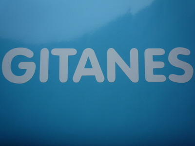 """Gitanes French Cigarette White Cut Vinyl Sticker. 10""""."""