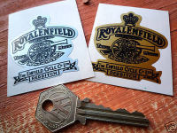 Royal Enfield Gun & Crest Stickers. 2