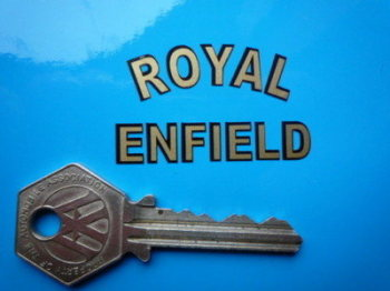 Royal Enfield Cut Text Sticker. 45 x 26mm.