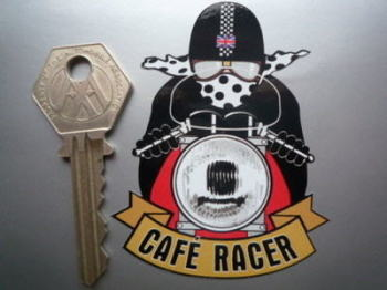 "Cafe Racer Pudding Basin Helmet Sticker. 3""."