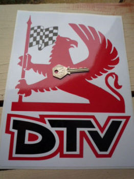 "Vauxhall Dealer Team DTV Griffin Logo Sticker. 8""."