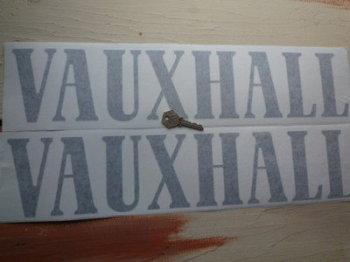 "Vauxhall Cut Text Stickers. 20"" Pair."