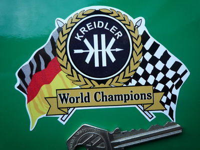 Kreidler Flag & Scroll Sticker. 3.75