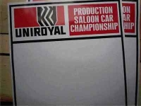 Uniroyal Saloon Car Championship Door Panel Stickers. 19