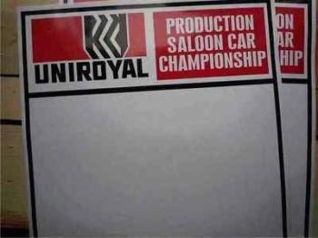 "Uniroyal Saloon Car Championship Door Panel Stickers. 19"" Pair."