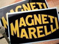 Magneti Marelli Black & Yellow Oblong Stickers. 6.5