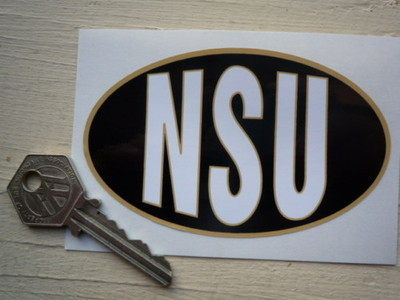 "NSU Oval Style Sticker. 4""."