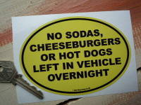 No Hot Dogs Funny American Van/Car Sticker. 5