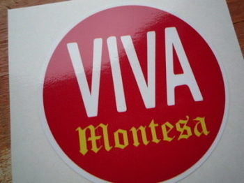 "Montesa Viva Circular Sticker. 3.75""."