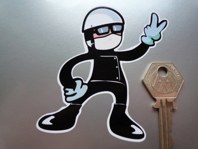 """Angry Pudding Basin 2 Fingered Driver Salute Sticker. 3.5""""."""