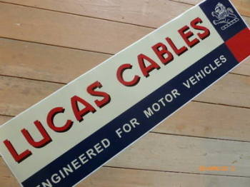 "Lucas Cables Large Workshop Sticker. 35.5""."