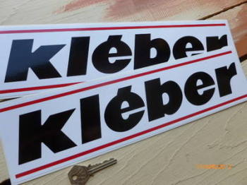 "Kleber Oblong Stickers. 15"" Pair."