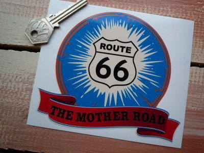 "Route 66 The Mother Road Bumper Sticker. 5""."