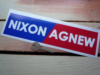 "Nixon/Agnew Period Bumper Sticker. 10.5""."