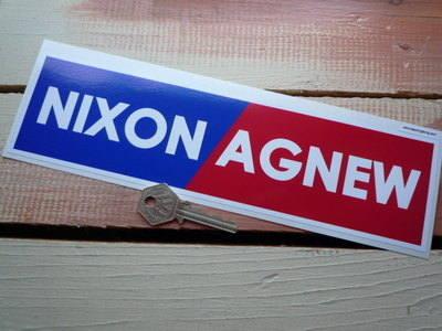 """Nixon/Agnew Period Bumper Sticker. 10.5""""."""