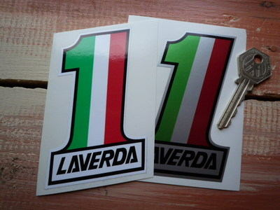 Laverda No. 1 Stickers. 4