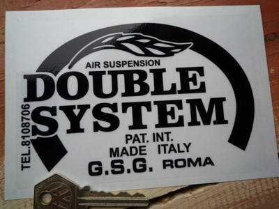 "Double System Suspension Black & Clear Sticker. 5.5""."
