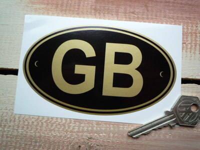 """GB Black & Gold ID Plate Sticker. 5""""."""