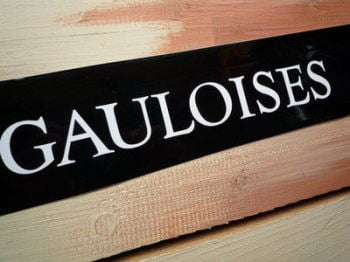"Gauloises French Cigarette White Cut Vinyl Sticker. 11.5""."