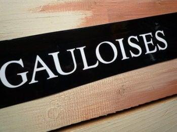 """Gauloises French Cigarette White Cut Vinyl Sticker. 11.5""""."""