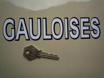 """Gauloises French Cigarette Black & White Cut Vinyl Sticker. 7""""."""