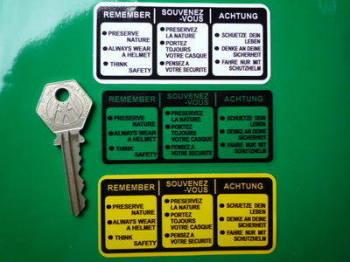 "Honda Classic Petrol Tank Preserve Nature Sticker. 3.25""."