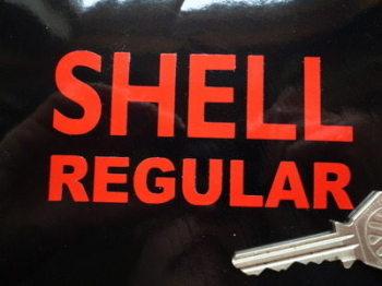 """Shell Regular Cut Text Sticker. 4"""" or 7.5""""."""