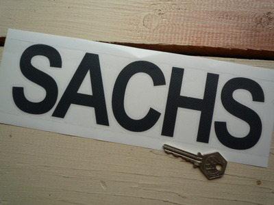 "Sachs Sponsors Black Cut Vinyl Sticker. 9.5""."