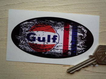 "Gulf Fade To Black Urban Style Sticker. 4""."