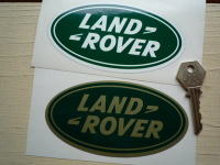 "Land Rover Old Style Oval Stickers. 5"" Pair."