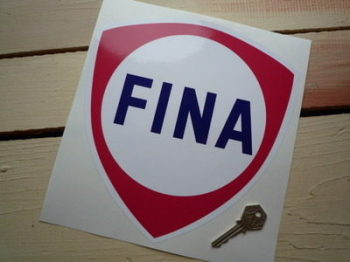 "Fina Red Shield Sticker. 9""."