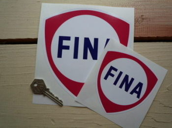 "Fina Red Shield Stickers. 4"" or 6"" Pair."