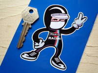 Martini Racing Driver 2 Fingered Salute Sticker. 3.5