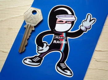 "Martini Racing Driver 2 Fingered Salute Sticker. 3.5""."
