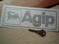 "Agip Cut Vinyl Oblong Sticker. 8""."