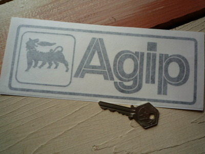 "Agip Cut Vinyl Oblong Sticker. 8""."