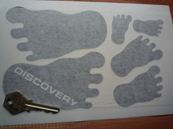 Land Rover Discovery Footprint Stickers. Set of 6.