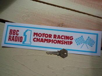 "BBC Radio 1 Motor Racing Championship Sticker. 11""."