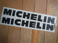 "Michelin Cut Vinyl Traditional Horizontal Text Stickers. 5"", 8"", 10"" or 12"" Pair."