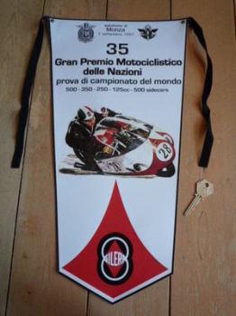 Gilera Monza FIM Banner Pennant.