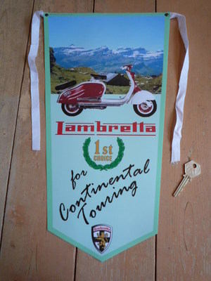 Lambretta For Continental Touring Banner Pennant.