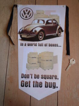 VW Beetle Get The Bug Banner Pennant