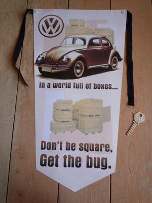 VW Beetle Get The Bug Banner Pennant
