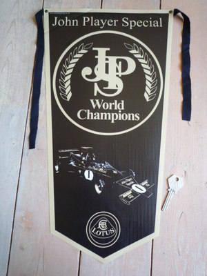 JPS John Player Special & Lotus Banner Pennant.