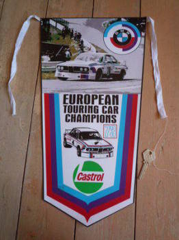 BMW Touring Car Champions 1973 Banner Pennant.