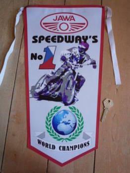 Jawa Speedway's No.1 Banner Pennant.